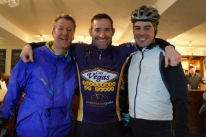 Alex finds some company from Neil and Norris on a breezy January Audax.